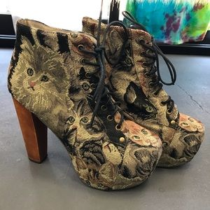 Jeffrey Campbell Cat Tapestry Lita Platform
